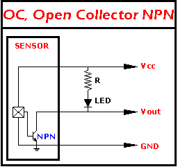 LED CONNECTION TO NPN OUTPUT